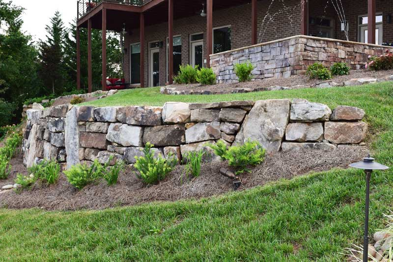 Select from materials like natural stone, pavers, block, and others.