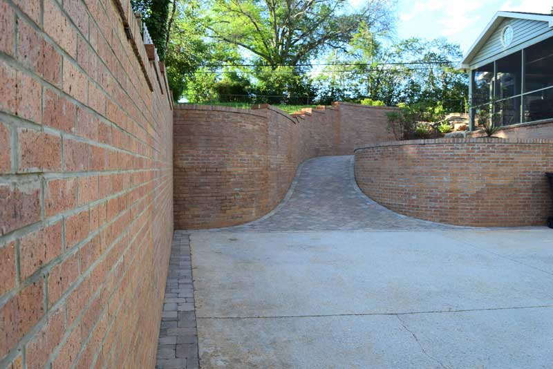 Retaining walls and paver patio construction.