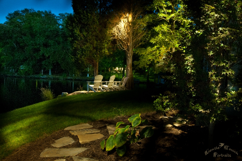 Let us add professional landscape lighting to your perfect backyard so that it is always seen!
